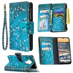 Blue Plum Binfen Color BF03 Retro Zipper Leather Wallet Phone Case for Nokia 5.3