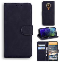 Retro Classic Skin Feel Leather Wallet Phone Case for Nokia 5.3 - Black