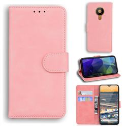 Retro Classic Skin Feel Leather Wallet Phone Case for Nokia 5.3 - Pink
