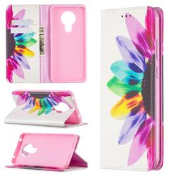 Sun Flower Slim Magnetic Attraction Wallet Flip Cover for Nokia 5.3