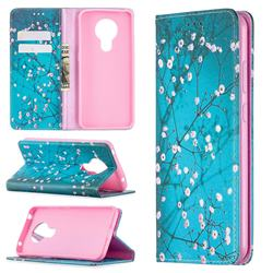 Plum Blossom Slim Magnetic Attraction Wallet Flip Cover for Nokia 5.3