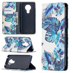 Blue Leaf Slim Magnetic Attraction Wallet Flip Cover for Nokia 5.3