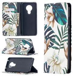 Flower Leaf Slim Magnetic Attraction Wallet Flip Cover for Nokia 5.3