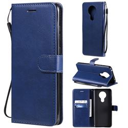 Retro Greek Classic Smooth PU Leather Wallet Phone Case for Nokia 5.3 - Blue