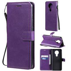 Retro Greek Classic Smooth PU Leather Wallet Phone Case for Nokia 5.3 - Purple
