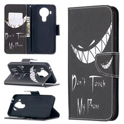 Crooked Grin Leather Wallet Case for Nokia 5.4