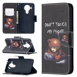 Chainsaw Bear Leather Wallet Case for Nokia 5.4