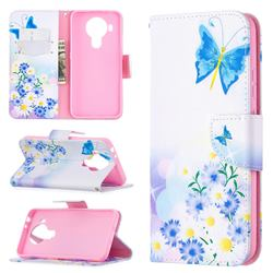 Butterflies Flowers Leather Wallet Case for Nokia 5.4