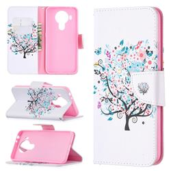 Colorful Tree Leather Wallet Case for Nokia 5.4