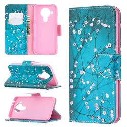 Blue Plum Leather Wallet Case for Nokia 5.4