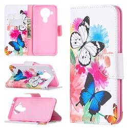 Vivid Flying Butterflies Leather Wallet Case for Nokia 5.4