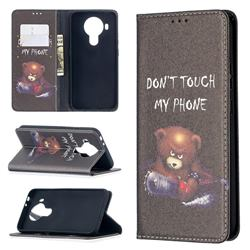 Chainsaw Bear Slim Magnetic Attraction Wallet Flip Cover for Nokia 5.4