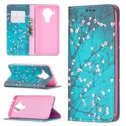 Plum Blossom Slim Magnetic Attraction Wallet Flip Cover for Nokia 5.4