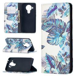 Blue Leaf Slim Magnetic Attraction Wallet Flip Cover for Nokia 5.4