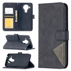 Binfen Color BF05 Prismatic Slim Wallet Flip Cover for Nokia 5.4 - Black