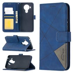Binfen Color BF05 Prismatic Slim Wallet Flip Cover for Nokia 5.4 - Blue