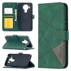 Binfen Color BF05 Prismatic Slim Wallet Flip Cover for Nokia 5.4 - Green