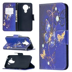 Purple Butterfly Leather Wallet Case for Nokia 5.4