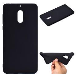 Candy Soft TPU Back Cover for Nokia 6 Nokia6 - Black