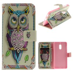 Weave Owl PU Leather Wallet Case for Nokia 6 Nokia6