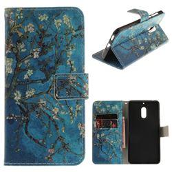 Apricot Tree PU Leather Wallet Case for Nokia 6 Nokia6