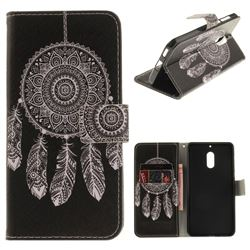 Black Wind Chimes PU Leather Wallet Case for Nokia 6 Nokia6