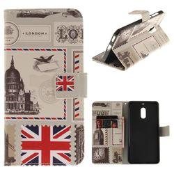 London Envelope PU Leather Wallet Case for Nokia 6 Nokia6