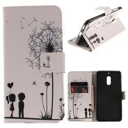 Couple Dandelion PU Leather Wallet Case for Nokia 6 Nokia6