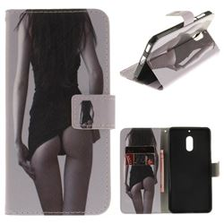 Sexy Girls PU Leather Wallet Case for Nokia 6 Nokia6