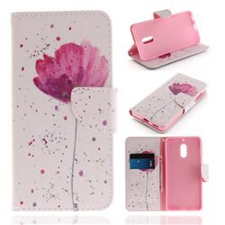 Purple Orchid PU Leather Wallet Case for Nokia 6 Nokia6