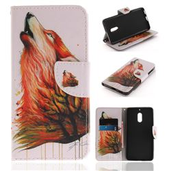 Color Wolf PU Leather Wallet Case for Nokia 6 Nokia6