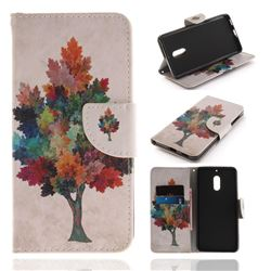 Colored Tree PU Leather Wallet Case for Nokia 6 Nokia6