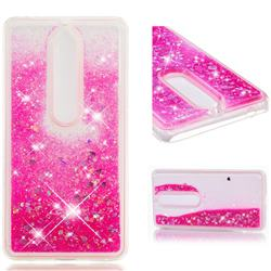 Dynamic Liquid Glitter Quicksand Sequins TPU Phone Case for Nokia 6 (2018) - Rose