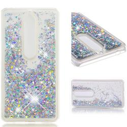 Dynamic Liquid Glitter Quicksand Sequins TPU Phone Case for Nokia 6 (2018) - Silver