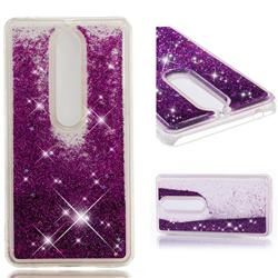 Dynamic Liquid Glitter Quicksand Sequins TPU Phone Case for Nokia 6 (2018) - Purple