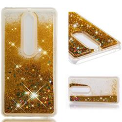 Dynamic Liquid Glitter Quicksand Sequins TPU Phone Case for Nokia 6 (2018) - Golden