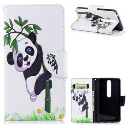 Bamboo Panda Leather Wallet Case for Nokia 6 (2018)