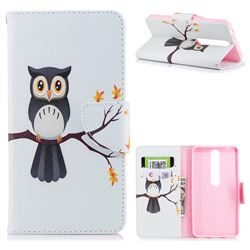 Owl on Tree Leather Wallet Case for Nokia 6 (2018)