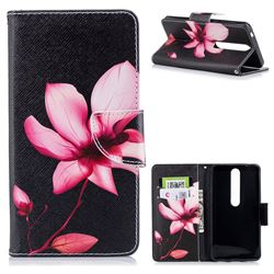 Lotus Flower Leather Wallet Case for Nokia 6 (2018)
