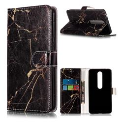 Black Gold Marble PU Leather Wallet Case for Nokia 6 (2018)
