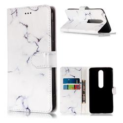 Soft White Marble PU Leather Wallet Case for Nokia 6 (2018)