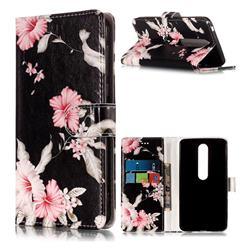 Azalea Flower PU Leather Wallet Case for Nokia 6 (2018)