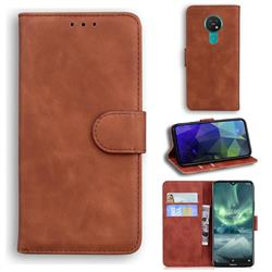 Retro Classic Skin Feel Leather Wallet Phone Case for Nokia 6.2 (6.3 inch) - Brown