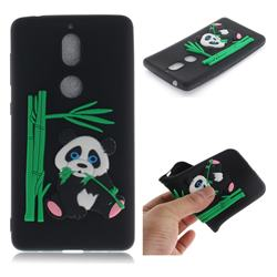 Panda Eating Bamboo Soft 3D Silicone Case for Nokia 7 - Black