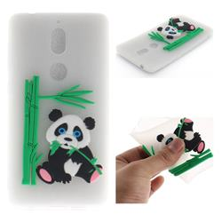 Panda Eating Bamboo Soft 3D Silicone Case for Nokia 7 - Translucent