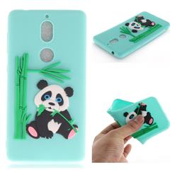Panda Eating Bamboo Soft 3D Silicone Case for Nokia 7 - Green