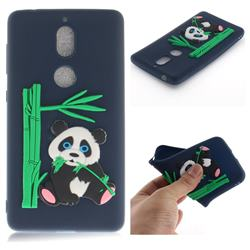 Panda Eating Bamboo Soft 3D Silicone Case for Nokia 7 - Dark Blue