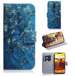 Apricot Tree PU Leather Wallet Case for Nokia 8.1 (Nokia X7)