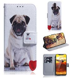Pug Dog PU Leather Wallet Case for Nokia 8.1 (Nokia X7)