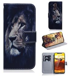 Lion Face PU Leather Wallet Case for Nokia 8.1 (Nokia X7)